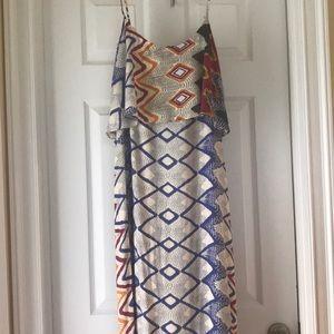 Ark & Co Geometric Design Maxi Dress; size M